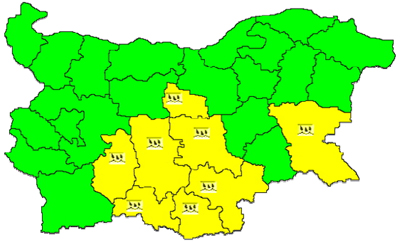 Обявиха жълт код за Кърджали в петък